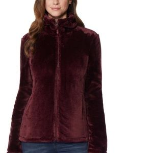 Beautiful burgundy plush jacket